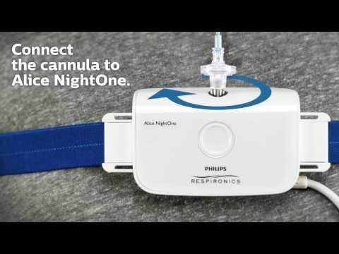 Alice NightOne Patient Setup   Philips   Sleep Diagnostic Testing